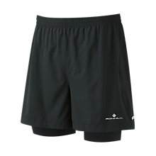 "Buy Ronhill Stride Twin 5"" Running Shorts, Black Online at johnlewis.com"