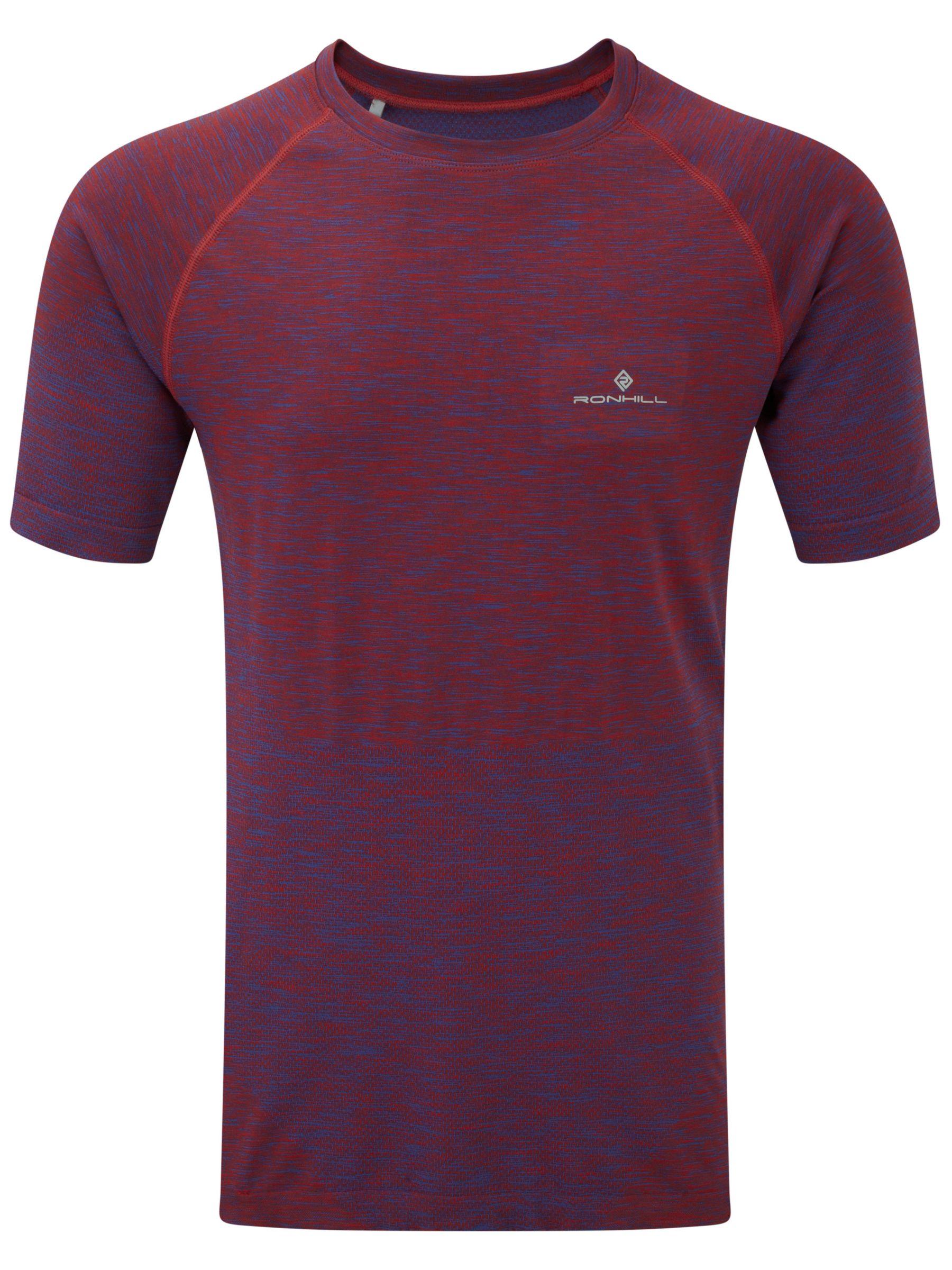 Ronhill Ronhill Infinity Short Sleeve Running T-Shirt, Purple/Red