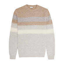 Buy Reiss Tyler Stripe Lambswool Jumper, Neutral Online at johnlewis.com