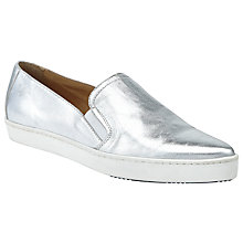 Buy Kin by John Lewis Elise Pointed Toe Slip On Trainers, Silver Online at johnlewis.com