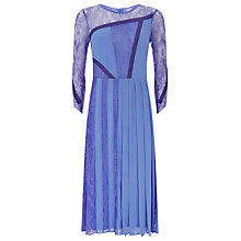 Buy Finery Benworth Lace Panel Strapping Midi Dress, Lilac Online at johnlewis.com