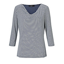 Buy Weekend Maxmara Bronte Cowl Neck Jersey Top, Ultramarine Online at johnlewis.com