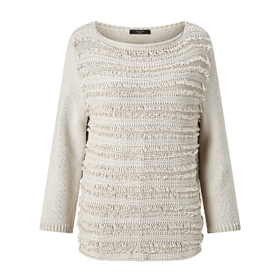 Weekend MaxMara Carlo Fringe Detail Jumper, Ivory