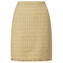 Buy Weekend MaxMara Fastoso Tweed Skirt, Yellow Online at johnlewis.com