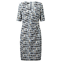 Buy Gerry Weber Printed Jersey Dress, Blue/Beige Online at johnlewis.com