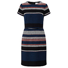 Buy BOSS Detina Textured Stripe Dress, Multi Online at johnlewis.com