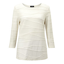 Buy Gerry Weber Textured Jersey Top, Ecru Online at johnlewis.com