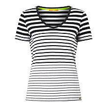 Buy BOSS Orange Vashion Stripe T-Shirt, Dark Blue Online at johnlewis.com