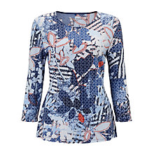 Buy Gerry Weber 3/4 Sleeve Printed Jersey Top, Multi Online at johnlewis.com