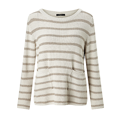Weekend MaxMara Antiope Metallic Stripe Jumper, Ivory