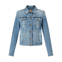 Buy BOSS Orange J90 Denim Jacket, Medium Blue Online at johnlewis.com