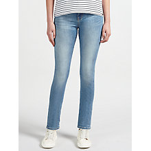 Buy BOSS Orange J21 High Rise Slim Jeans, Medium Blue Online at johnlewis.com