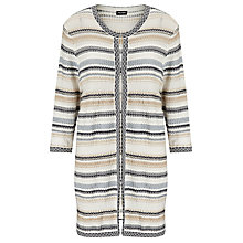 Buy Gerry Weber Longline Stripe Cardigan, Blue/Beige Online at johnlewis.com