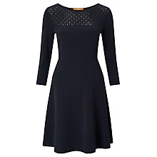 Buy BOSS Orange Witalia Dress, Navy Online at johnlewis.com