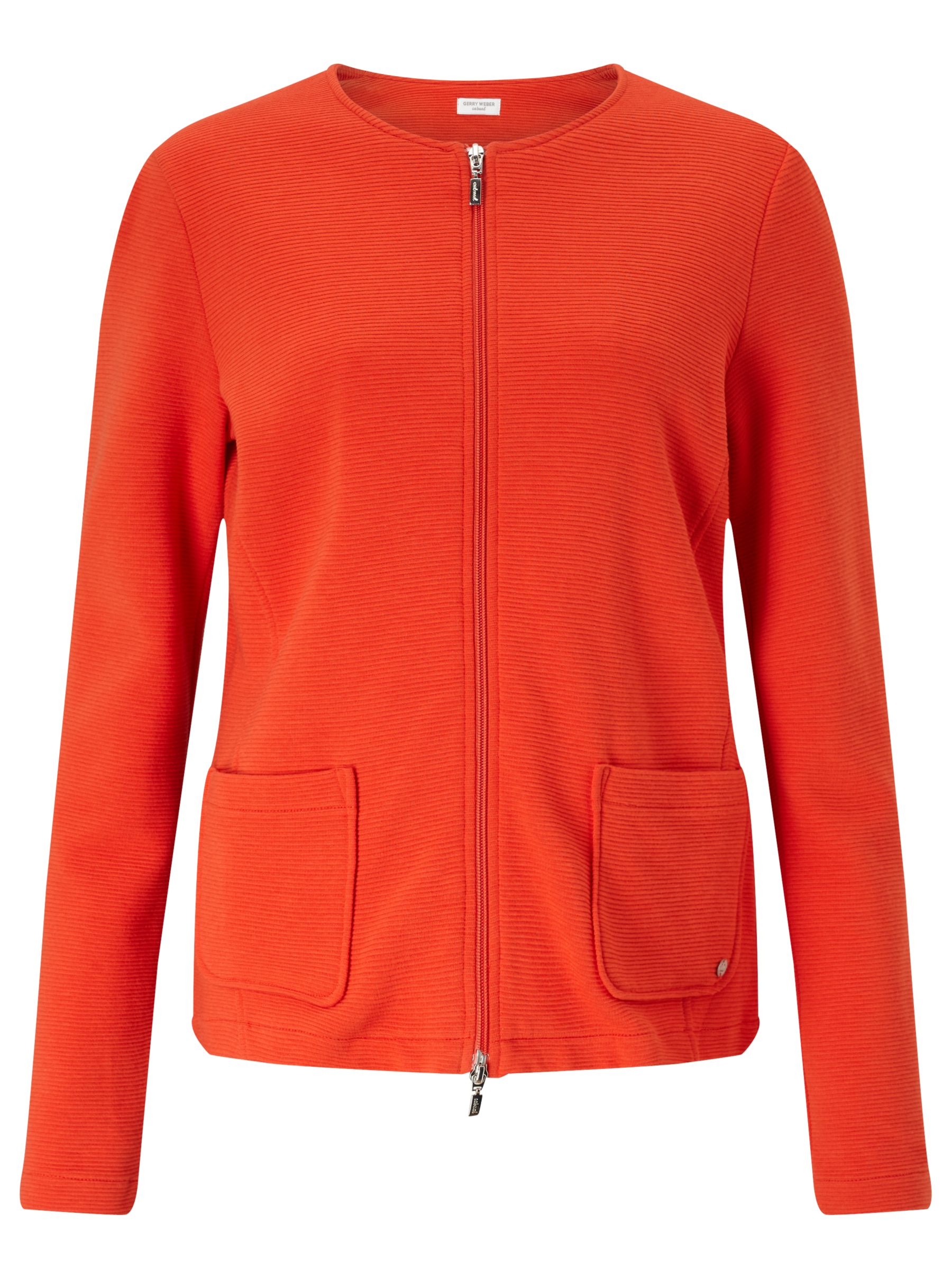 Gerry Weber Gerry Weber Ribbed Jersey Jacket, Chilli