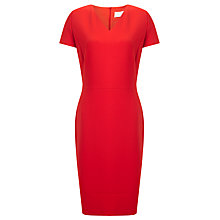 Buy BOSS Demida1 V-Neck Sheath Dress, Bright Red Online at johnlewis.com