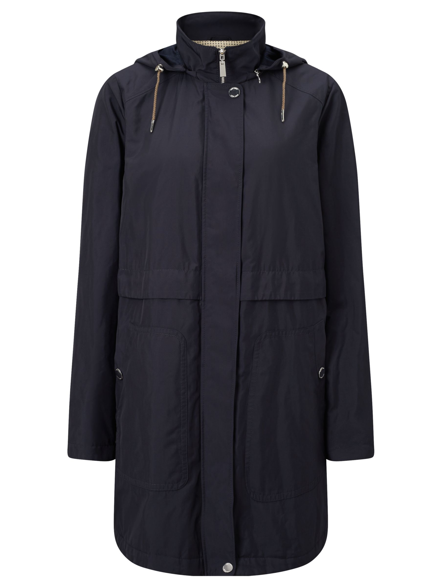 Gerry Weber Gerry Weber Water Repellent Hooded Coat, Navy