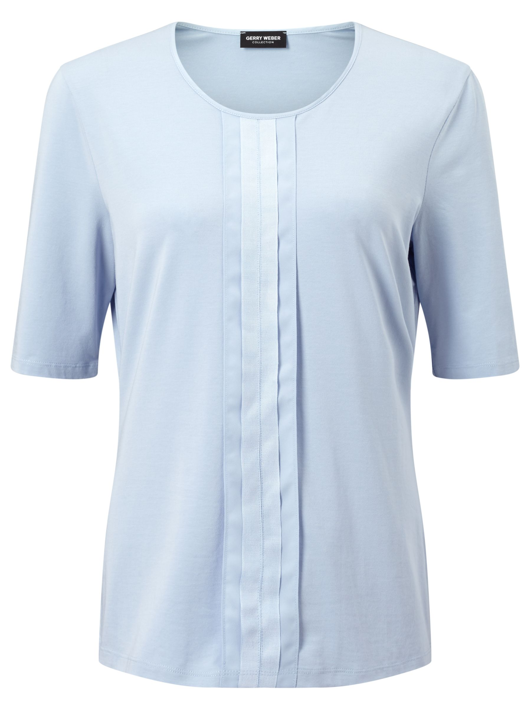 Gerry Weber Gerry Weber Pleat Front Jersey Top, Light Blue