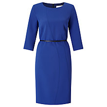 Buy BOSS Hallia Belted Dress, Medium Blue Online at johnlewis.com
