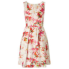 Buy BOSS Orange Afilly Sleeveless Floral Print Dress, Multi Online at johnlewis.com