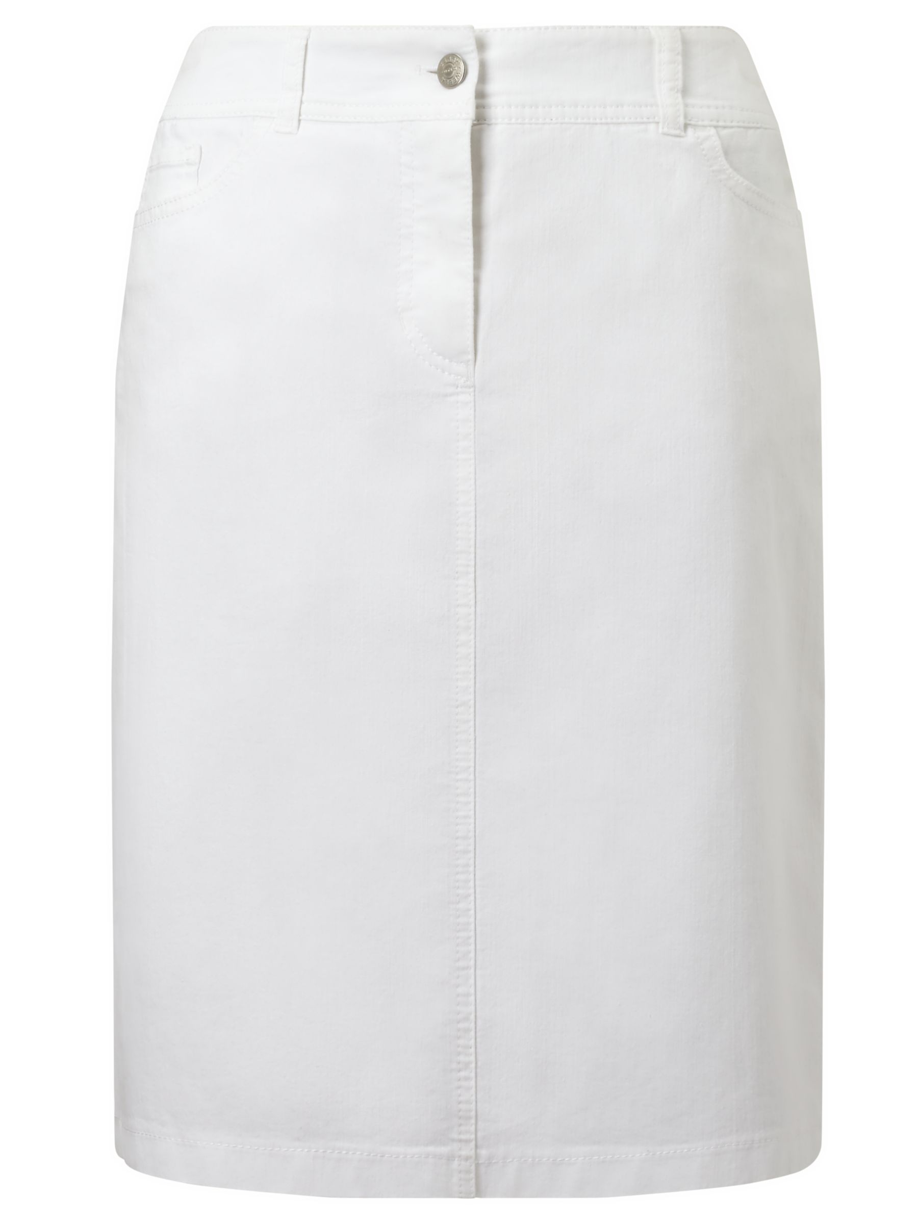 Gerry Weber Gerry Weber Straight Denim Skirt, White