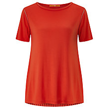 Buy BOSS Orange Taplisse Pleat Detail Top, Bright Red Online at johnlewis.com