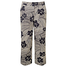 Buy Marella Nocera Floral Print Trousers. Black/Multi Online at johnlewis.com