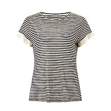 Buy Marella Omelia Stripe T-Shirt, Black/White Online at johnlewis.com