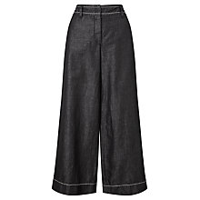Buy Weekend MaxMara Cabreo Wide Leg Trousers, Black Online at johnlewis.com