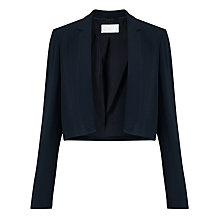 Buy BOSS Jafyna Cropped Blazer, Navy Online at johnlewis.com