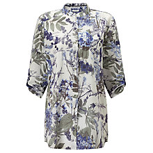 Buy Gerry Weber Floral Print Shirt, Off White/Khaki Blue Online at johnlewis.com