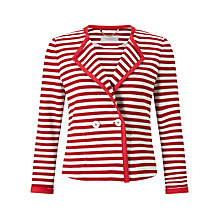 Buy Marella Este Stripe Jacket, Ruby Online at johnlewis.com