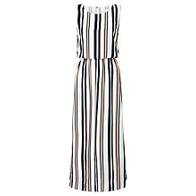 Buy BOSS Hemsy Stripe Silk Dress, Multi Online at johnlewis.com