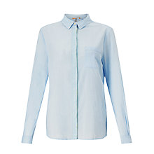 Buy BOSS Orange Egyp Relaxed-Fit Shirt, Open Blue Online at johnlewis.com