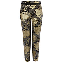 Buy Coast Lovato Jacquard Trousers, Gold Online at johnlewis.com