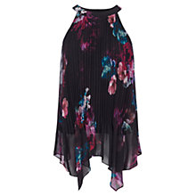 Buy Coast Eton Print Pleated Top, Multi Online at johnlewis.com