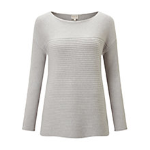 Buy East Sparkle Rib Jumper, Icicle Online at johnlewis.com