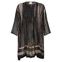 Buy East Shibori Tunic, Black Online at johnlewis.com