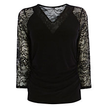 Buy Coast Mirinenna Jersey Top, Black Online at johnlewis.com