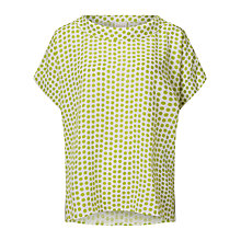 Buy East Spot Print Bardot Neck Top, Green Online at johnlewis.com