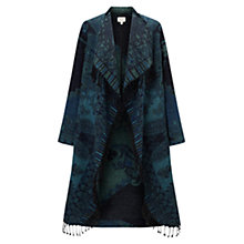 Buy East Waterfall Blanket Coat, Sapphire Online at johnlewis.com