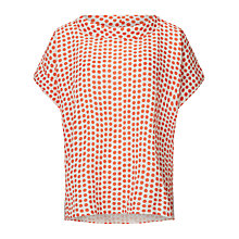 Buy East Spot Print Bardot Neck Top, Orange Online at johnlewis.com