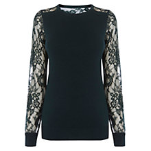Buy Coast Lace Knit Top, Forest Online at johnlewis.com