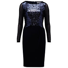 Buy Gina Bacconi Jersey Dress With Sequin Bodice, Spring Navy Online at johnlewis.com