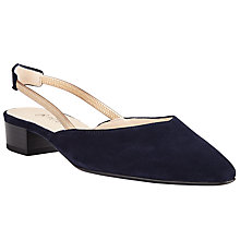 Buy Peter Kaiser Carsta Slingback Court Shoes, Navy Suede Online at johnlewis.com