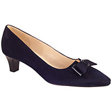 Buy Peter Kaiser Edeltraud Bow Pointed Toe Court Shoes, Navy Online at johnlewis.com
