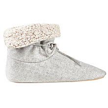 Buy Jigsaw Leena Boot Slippers, Light Grey Online at johnlewis.com