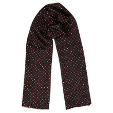 Buy Jigsaw Geo Print Silk Scarf, Sienne Online at johnlewis.com
