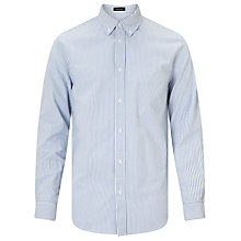 Buy Samsoe & Samsoe Liam Stripe Oxford Shirt, Blue Online at johnlewis.com