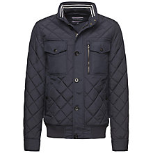 Buy Tommy Hilfiger Diamond Quilted Jacket, Midnight Online at johnlewis.com